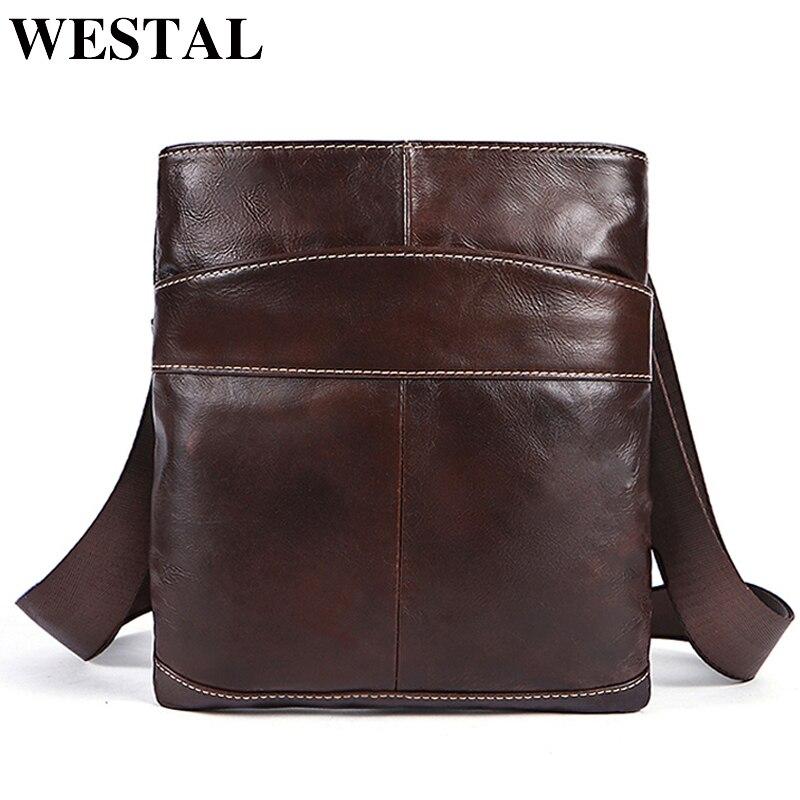 7d1b5e4272be Купить WESTAL Натуральная кожа Мужская сумка мужская через плечо ...