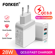 2 Port USB Charger Quick Charge 3.0 USB Adapter 28W QC3.0 QC2.0 Portable Travel Dual USB Fast Charger for Phone Tablet