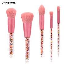 5pcs Beauty Candy Handle Makeup Brushes Set Large Powder Round Buffer Blending Eyeshadow Flame Brush Cosmetic Make Up Tool Kit