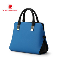European and American style cross grain PU leather ladies bag handbag fashion waist Boston bag