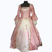 купить new pink Vintage costumes 18th Duchess Retro medieval Renaissance Reenactment Theatre Civil war Victorian dress D-261 дешево