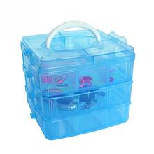 3-layers detachable DIY desktop storage box Transparent Plastic Storage Box Jewelry Organizer Holder Cabinets for small objects