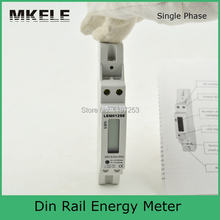 Din Rail MK-LEM012SE single phase digital energy meter price,smart