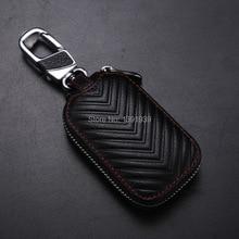 цена на Car key wallet case Genuine Leather for Skoda Octavia Superb Fabia Yeti Rapid Citigo Roomster free shipping