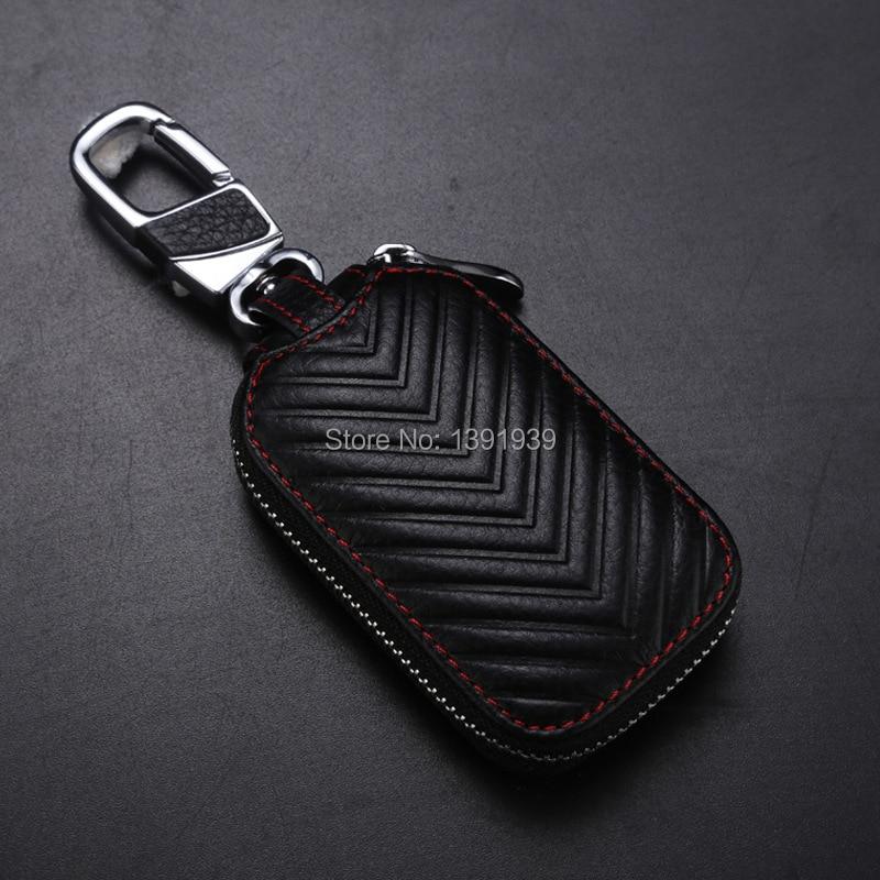 Car key wallet case Genuine Leather for Skoda Octavia Superb Fabia Yeti Rapid Citigo Roomster free shipping