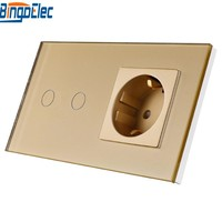 Home Improvement Supplies EU Standard 2gang 1way 2way Remote Dimmer Touch Wall Switch And Germany Wall