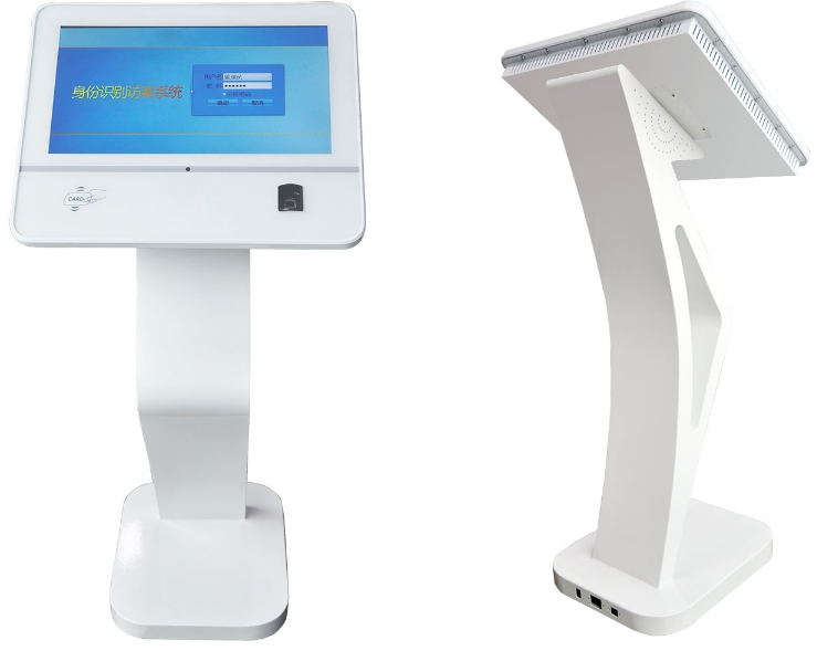 Security Guard Visitors Check In/out Time Management Face And ID Recognition Pc Desktop With 10.1 Inch Touch Monitor