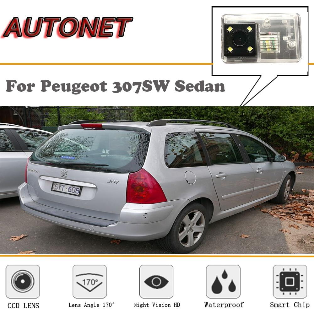 AUTONET Backup Rear View Camera For Peugeot 307SW Sedan/HD Night Vision/Parking Camera/license Plate Camera