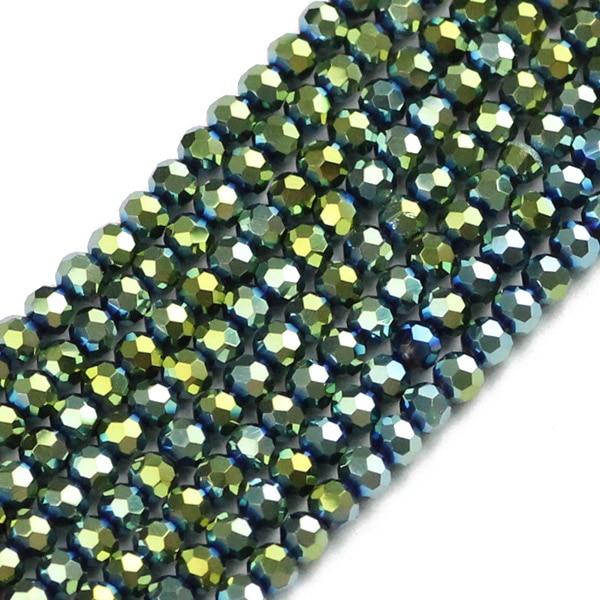 JHNBY, футбольные граненые Австрийские кристаллы, 200 шт, 3 мм, цветные круглые бусины, ювелирные изделия, браслет, аксессуары, сделай сам - Цвет: QZ3109 Green