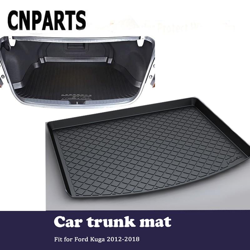 все цены на CNPARTS For Ford Kuga 2012 2013 2014 2015 2016 2017 2018 Car Cargo Liner Rear Trunk Anti Slip Mat Custom Boot Tray Waterproof онлайн