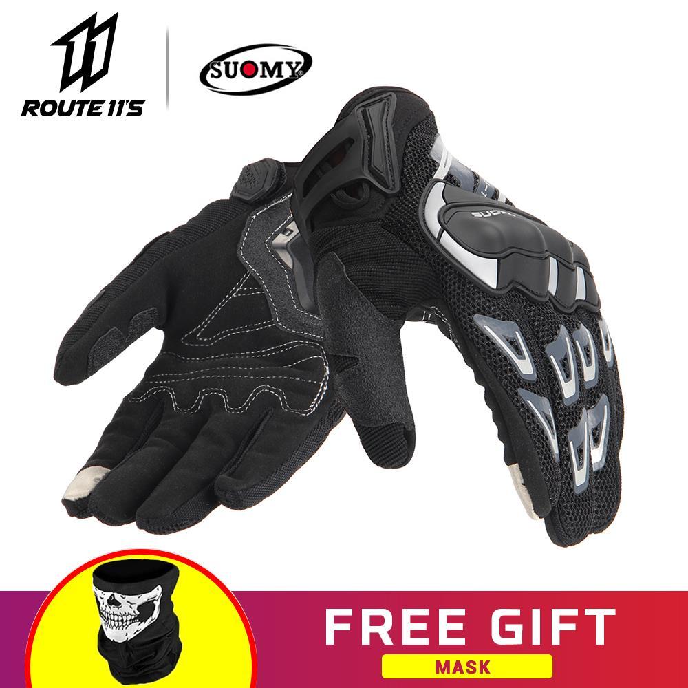 Gants de Moto SUOMY gants d'écran tactile gants Guantes Moto Moto course gants d'équitation pour Moto doigt complet #