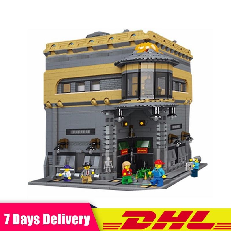 Лепин 15015 5003 шт. город улица динозавра музей модель здания Наборы набор блоков Кирпич Игрушки Подарки, совместимые LegoINGlys