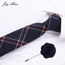 Fashion Tie&pin set Classic Mens Plaid Necktie Casual Tartan Suit Bowknots Ties Male Cotton Skinny Slim Colourful Cravat