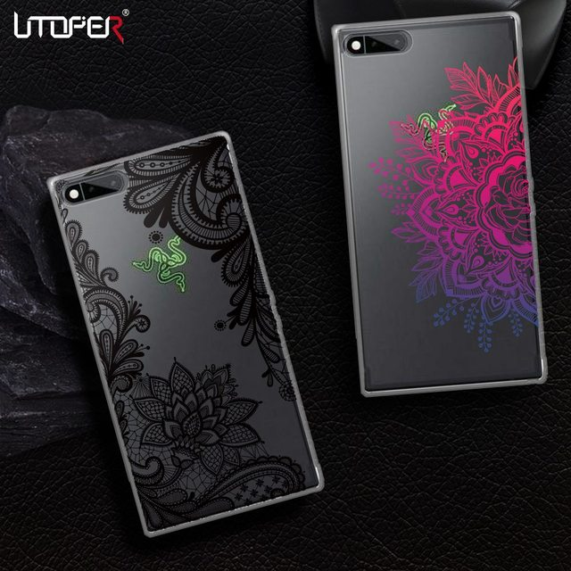 new products 24adf ac7d9 US $1.99 |UTOPER Lace Mandala Flower Cases For Razer Phone Case For Razer  Case Silicone Transparent Colorful Cover For Razer Smart Phone -in Fitted  ...