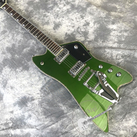 Free delivery, new guitar, alternative guitar, jazz guitar, metallic green body, white hardware, customizable!