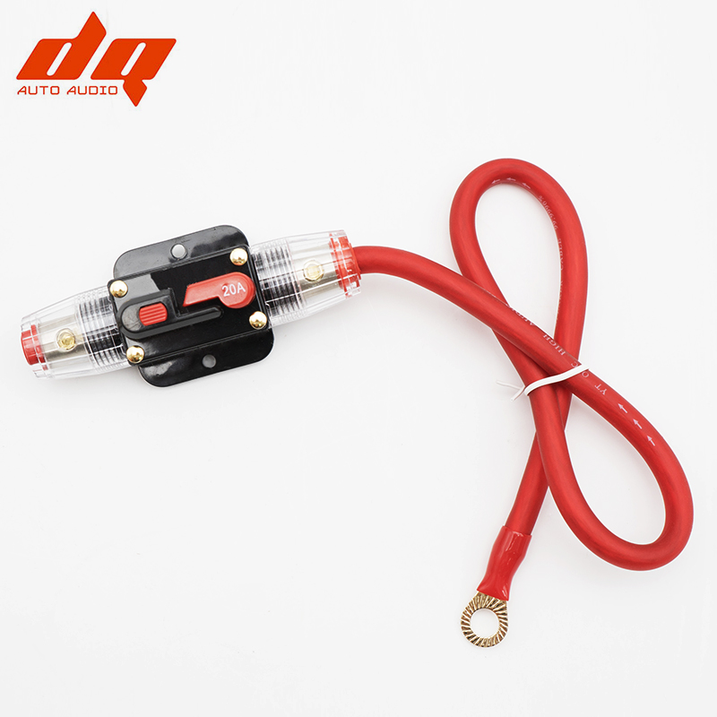 car audio insurance seat with switch automatic fuse box bile with 0 5m 6ga  pure copper line 20a 30a 40a 50a 60a 80a 100a 1 to 1