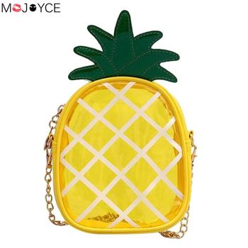 Clear Pineapple PVC Summer Beach Messenger Handbags Women Mini Crossbody Shoulder Bags Bolsa Feminina