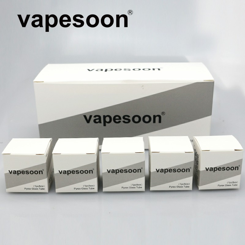 Adroit 60pcs Original Vapesoon Replacement Pyrex Extend Glass Tube For Smok Stick V9 Max Atomzier Fit Stick V9 Max Kit Fragrant Flavor In