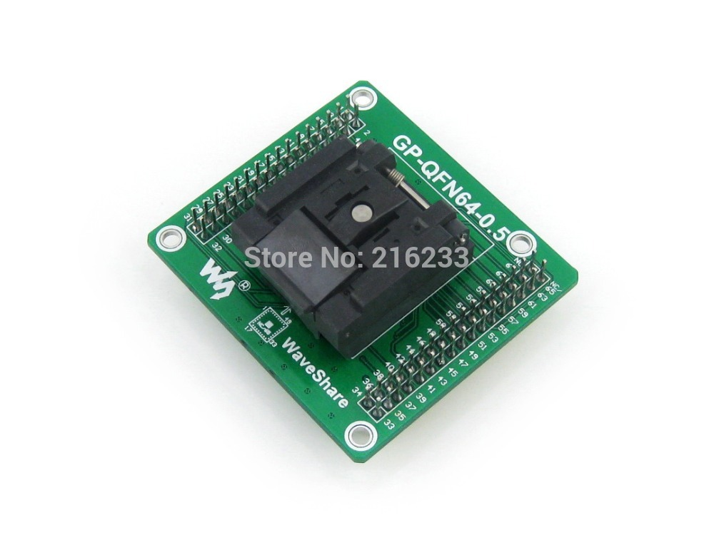 QFN-64B-0.5-01 QFN64 MLF64 Enplas IC Test Socket Programming Adapter 0.5mm Pitch with PCB Pin Header qfn 64b 0 5 01 qfn64 mlf64 enplas ic test socket programming adapter 0 5mm pitch with pcb pin header