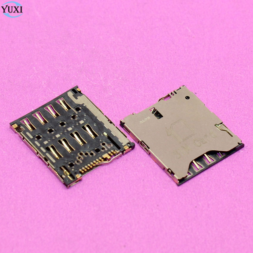YuXi 2pcs Sim Card Socket Holder Tray Slot Connector For HTC One S Z520E G25 For Sony XPERIA ZL C6502 C6503 C6506 L35 LT35 L35h