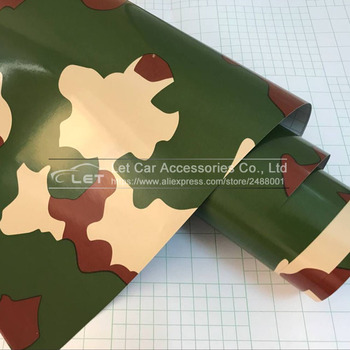 Car-Styling army green Camouflage Adhesive PVC Vinyl Film Car Wrap Army Military Camo Woodland Digital Sticker Vehicle DIY Decal image