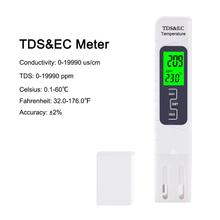Yieryi New TDS/EC/temperature Three-in-one Water Quality Test Pen High Precision 0-19999 PPM Conductivity Detection Instrument