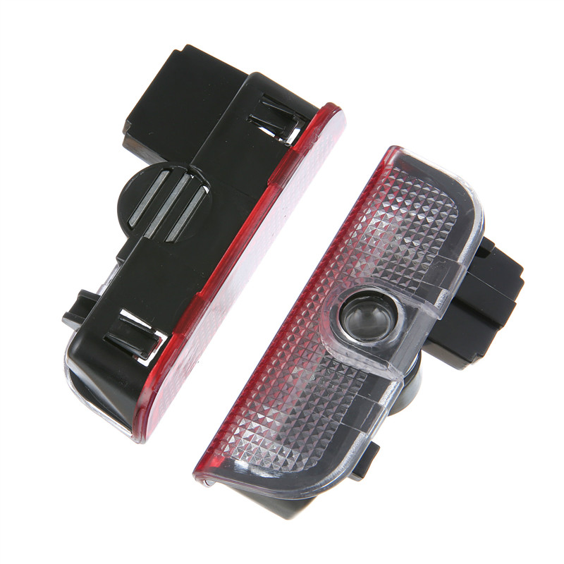 2x LED Car Door Laser Logo Projector Light For Skoda Superb 2009 2010 2011 2012 2013 2014 2015