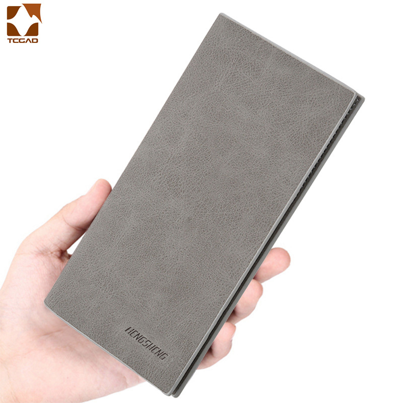 Мужской тонкий кошелек, кожаный длинный мужской клатч, мужские бумажники, кошелек для монет, Карманный Кошелек, cartera hombre billetera hombre 2020