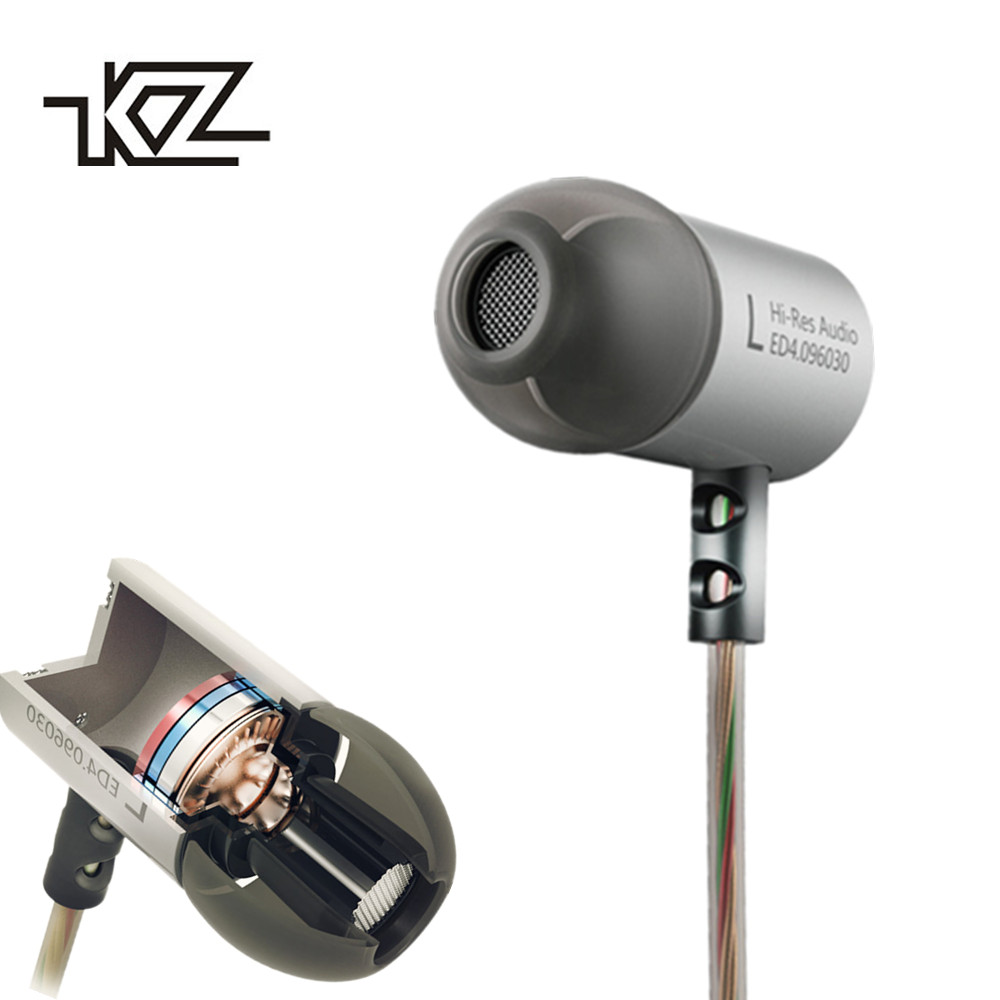 KZ ED4 In Ear Stereo Earphones with Mic for Mobile Phone Metal HIFI Earbuds DJ Bass Noise Isolating Headset Earbuds 9.6mm kz wired in ear earphones for phone iphone player headset stereo headphones with microphone earbuds headfone earpieces auricular