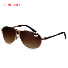 32c9a302ceb ISENGHUO Bifocal Reading Glasses Unisex Diopter Glasses Male Polarized  Sunglasses Presbyopic Eyeglasses +1.0+1.5