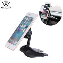 XMXCZKJ Magnetic CD Slot Car Mount Holder 360 Degree Universal Magnetic Mobile Phone Holder For iPhone Samsung Support GPS Mount