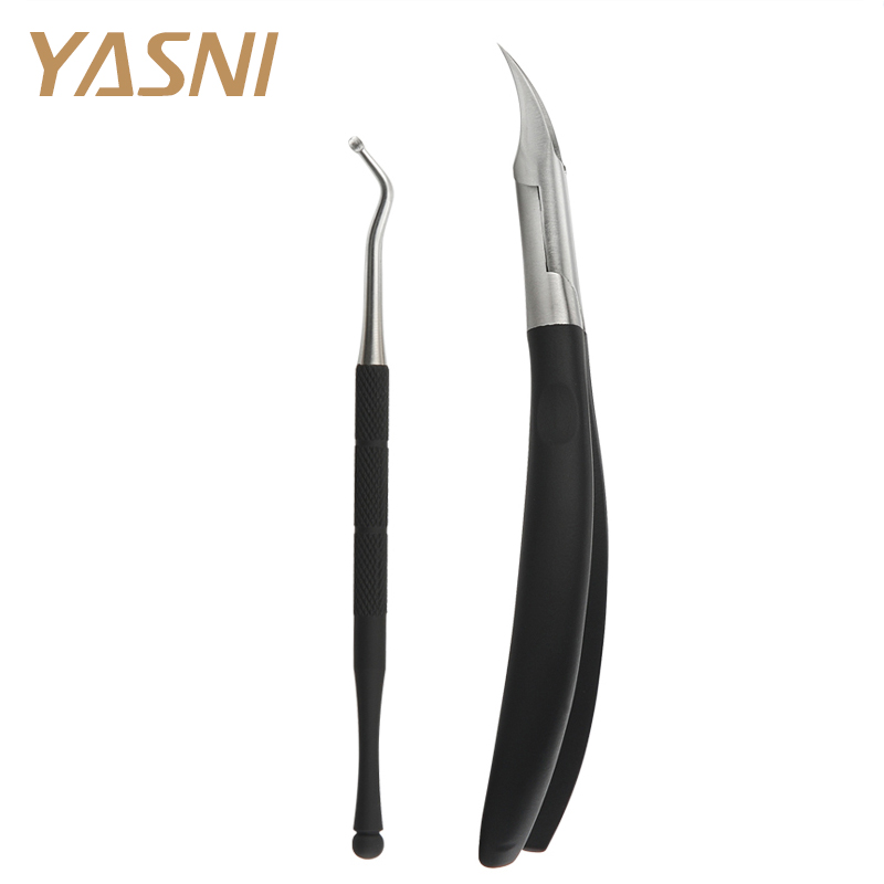 2pcs/set New Black feet care Toe Nail Clippers Trimmer Cutters Professional Paronychia Nippers Chiropody Podiatry foot care FS41