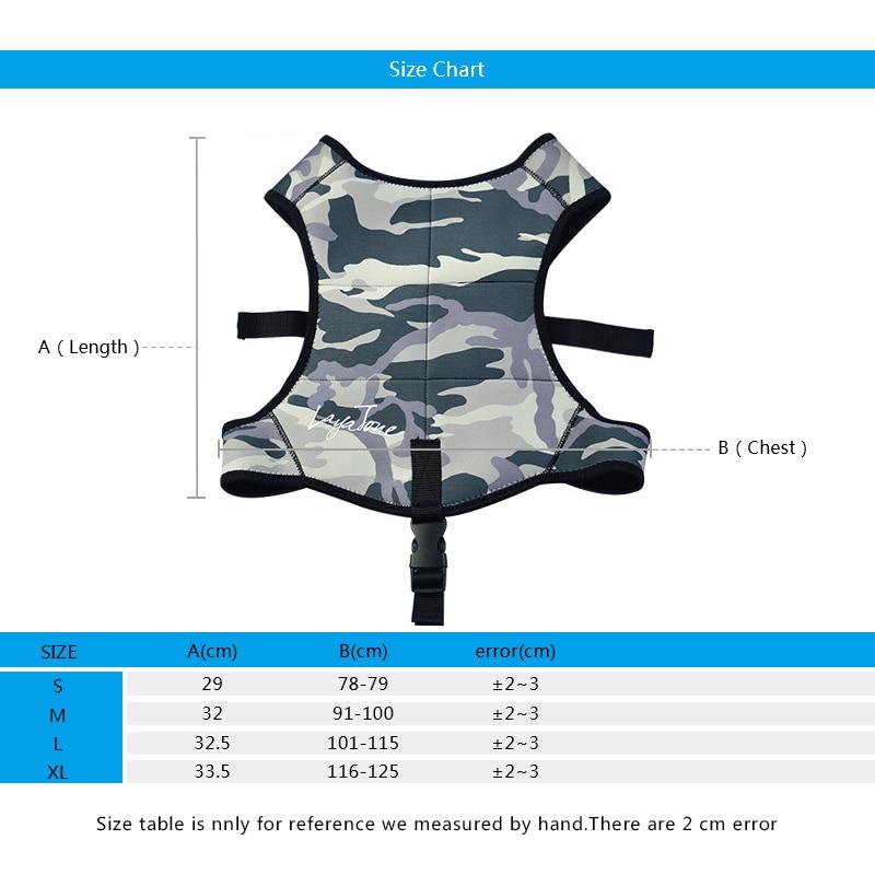 Laytone Ağırlık Yelek 2mm Neopren Balıkçılık Yelek Eğitim - Balık Tutma - Fotoğraf 2