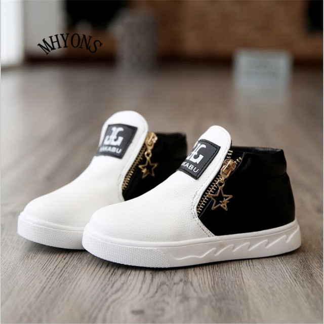 Zapatos del Color del caramelo de Invierno Para Niños Niños Niñas Zip Pu Moda Niños Botas Regenlaarzen Kinderen Kinder Schuhe de Invierno