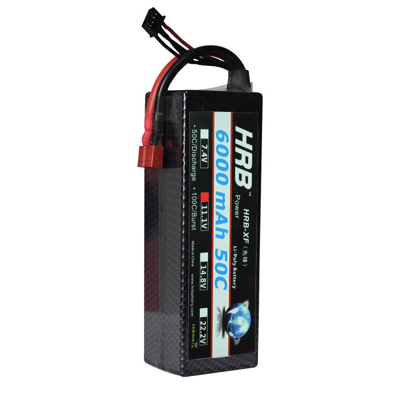 HRB 3S 11.1V 6000mah 50C Hardcase Lipo