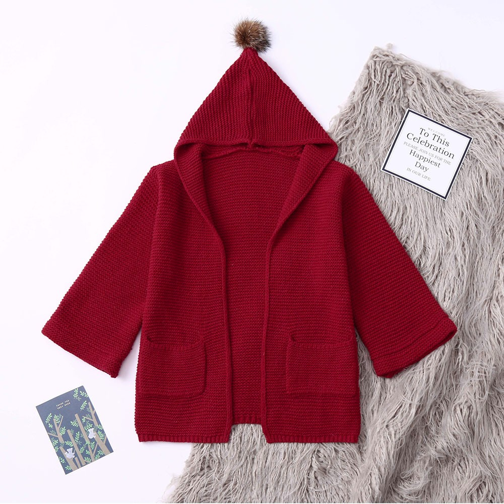 8c6e0d786f8a Kids Hooded Cardigan European and American style Baby girls Full ...