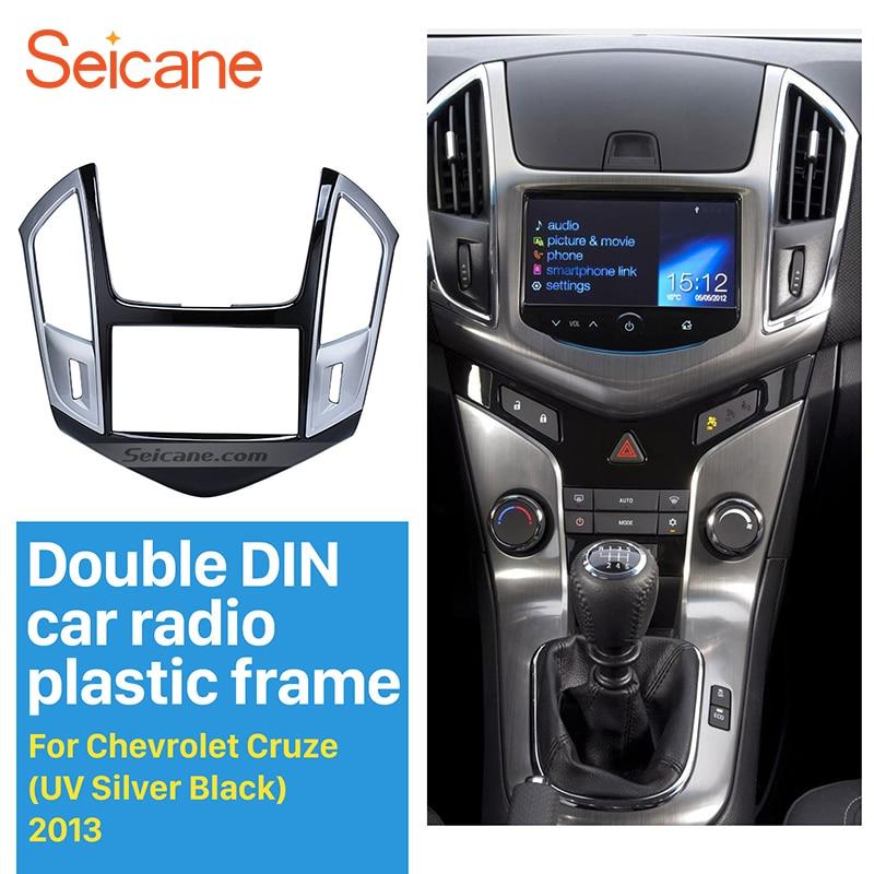 Seicane 178 102mm Car Radio Panel Fascia for 2013 2014 2015 Chevrolet Cruze In Dash Mount