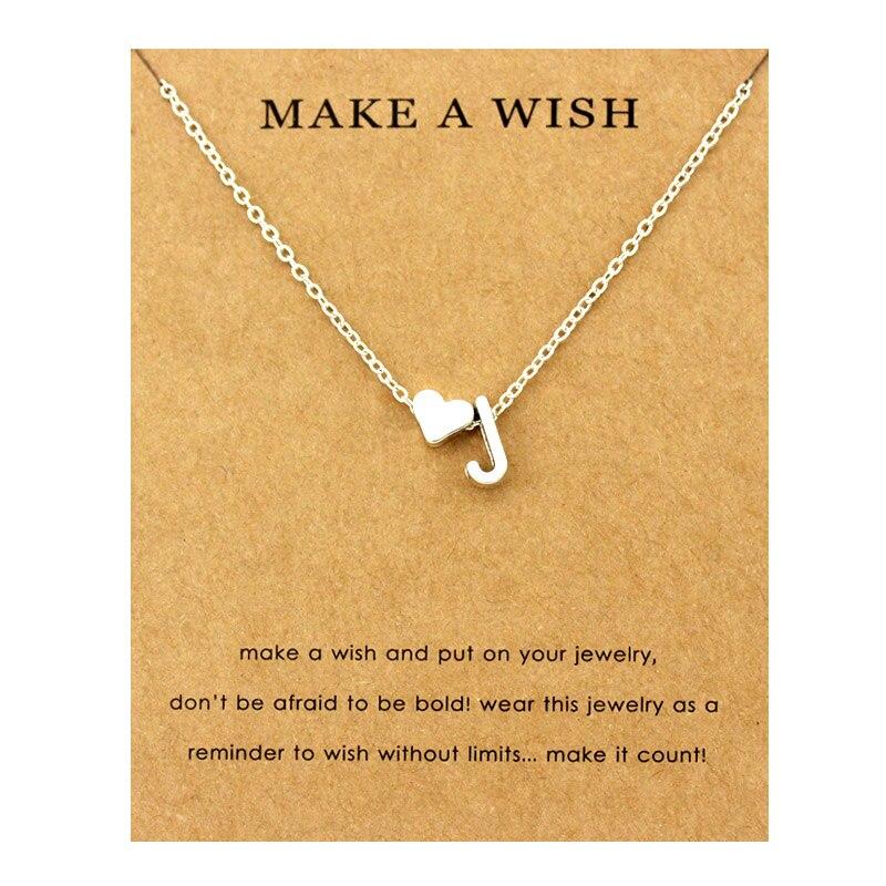 Сердце начальные Подвески ожерелье s персонализированное ожерелье с буквами Имя ювелирные изделия для женщин мужчин аксессуары подруги любовника пара подарок - Окраска металла: NE1664