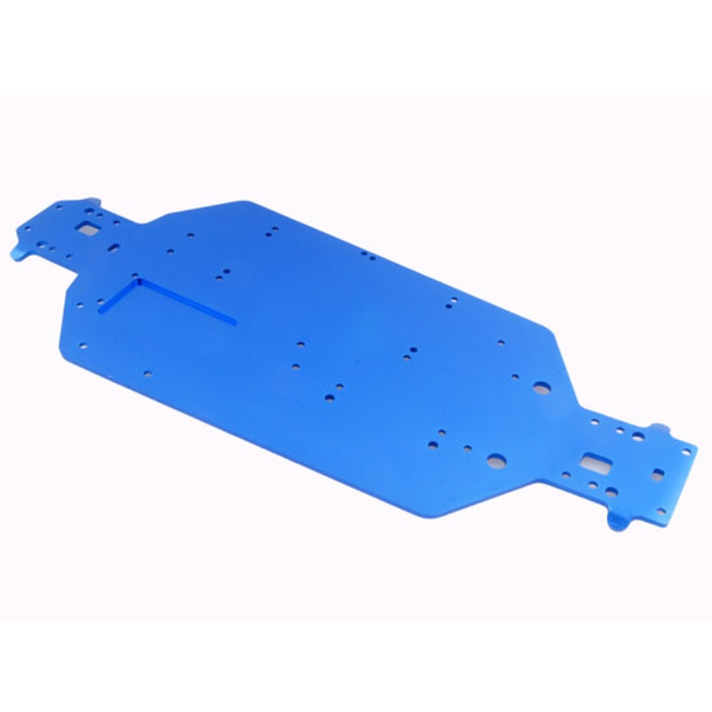 <font><b>03601</b></font> Aluminum Alloy Metal Chassis 04001 Upgrade Parts For RC Car 1/10 HSP Buggy Monster Bigfoot Truck 94107 94170 94118 94111 image