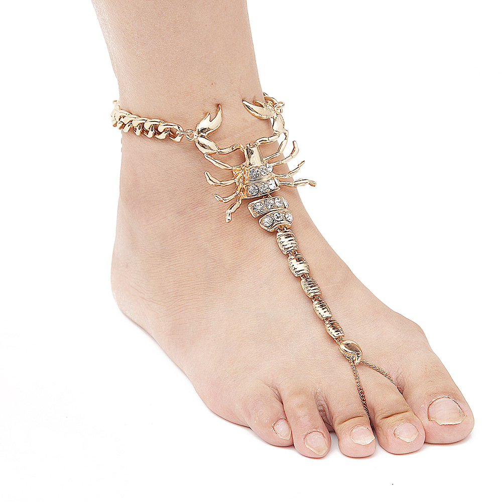 2017 New Scorpion Ankle Bracelet Barefoot Sandals Foot ...