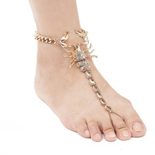 2017 New Scorpion Ankle Bracelet Barefoot Sandals Foot Jewelry Leg New Anklets For Women To Beach Chain Anklet