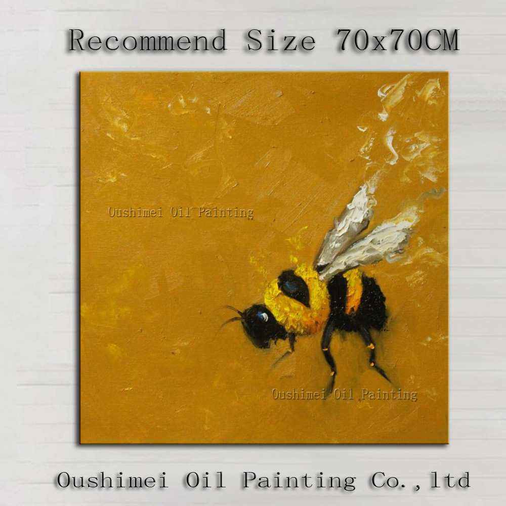ᐂProfessional Artist Handmade Modern Abstract Bee Oil Painting For ...