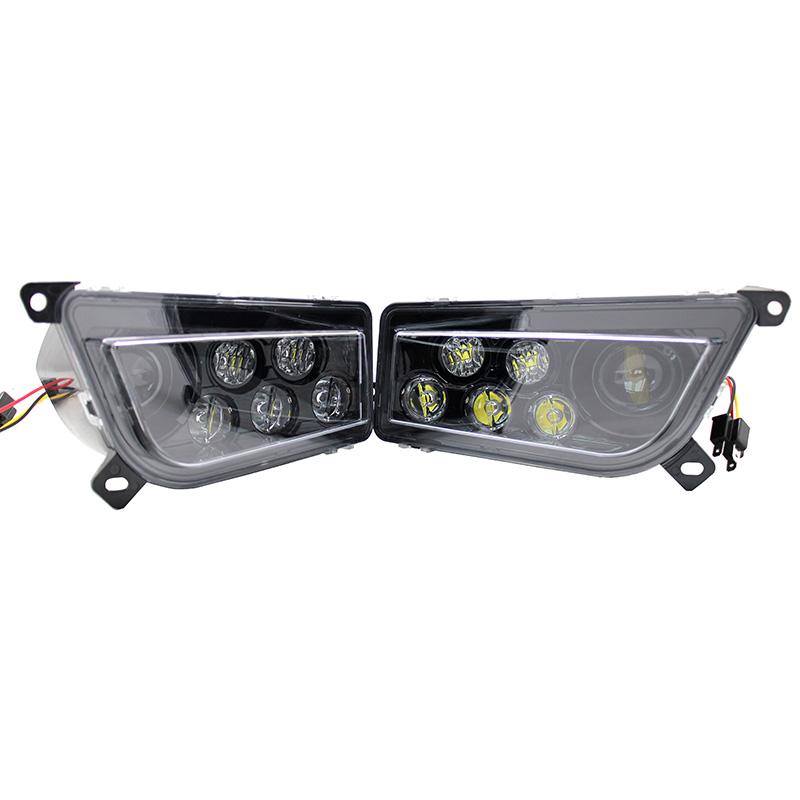 Polaris RZR 1000 ATV UTV Chrome Hitam LED Headlight Polaris RZR 900 - Lampu mobil - Foto 3