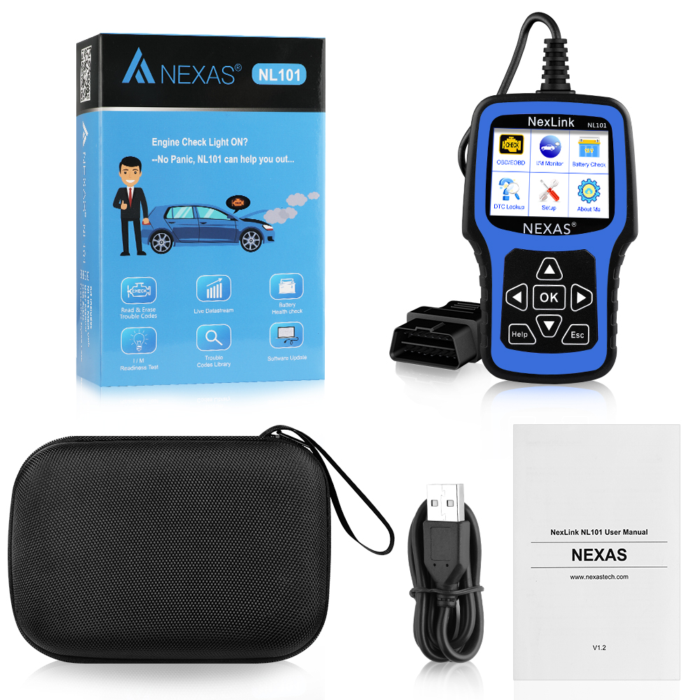 Image 5 - NEXAS NL101 OBD2 Automotive Scanner Engine EVAP Battery OBDII Scanner PK CR3001 ELM327 Professional EOBD OBD Car Diagnostic Tool-in Engine Analyzer from Automobiles & Motorcycles