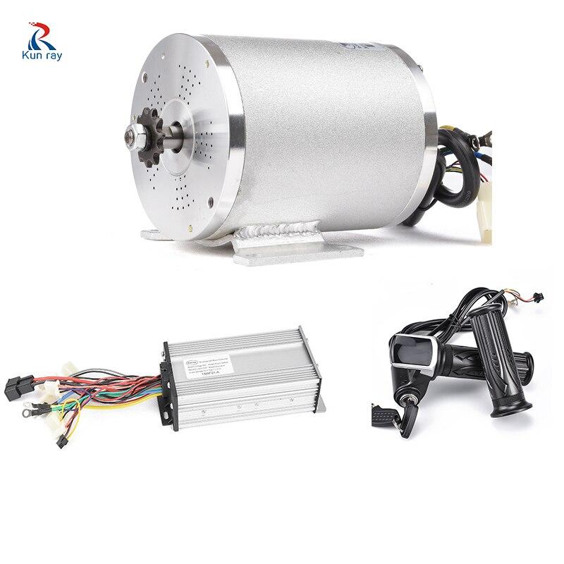 Kit de Conversion de moto électrique de roue de moteur de 48 V 2000 W pièces de contrôleur sans brosse de moteur de moteur