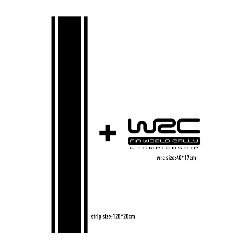 Personality WRC Stripe Racing Sports  Car Sticker  For TOYOTA corolla rav4  For MAZDA For VW Golf mk5  mk6  mk7 grips wrc 7 [ps4]