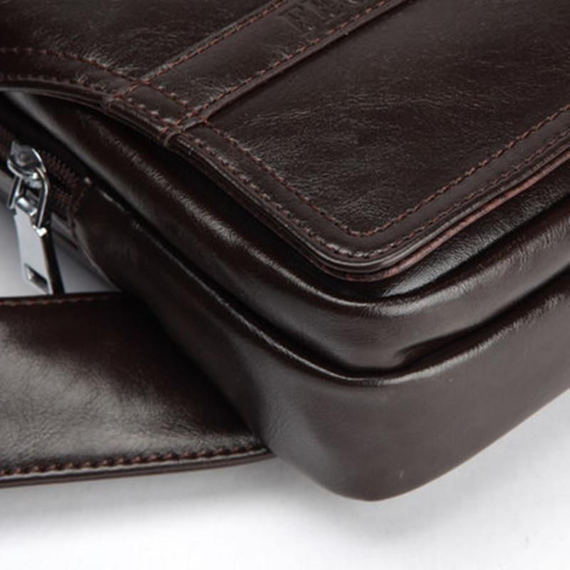 Bərk rənglər Microfiber dəri kişi mesaj çantası çapraz - Çantalar - Fotoqrafiya 5