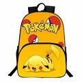 Frete Grátis Nintendo Game Puxão Ir Mochila Saco de Escola para Adolescentes Dos Desenhos Animados Pikachu Presente para a Escola de Volta Preço do Dólar
