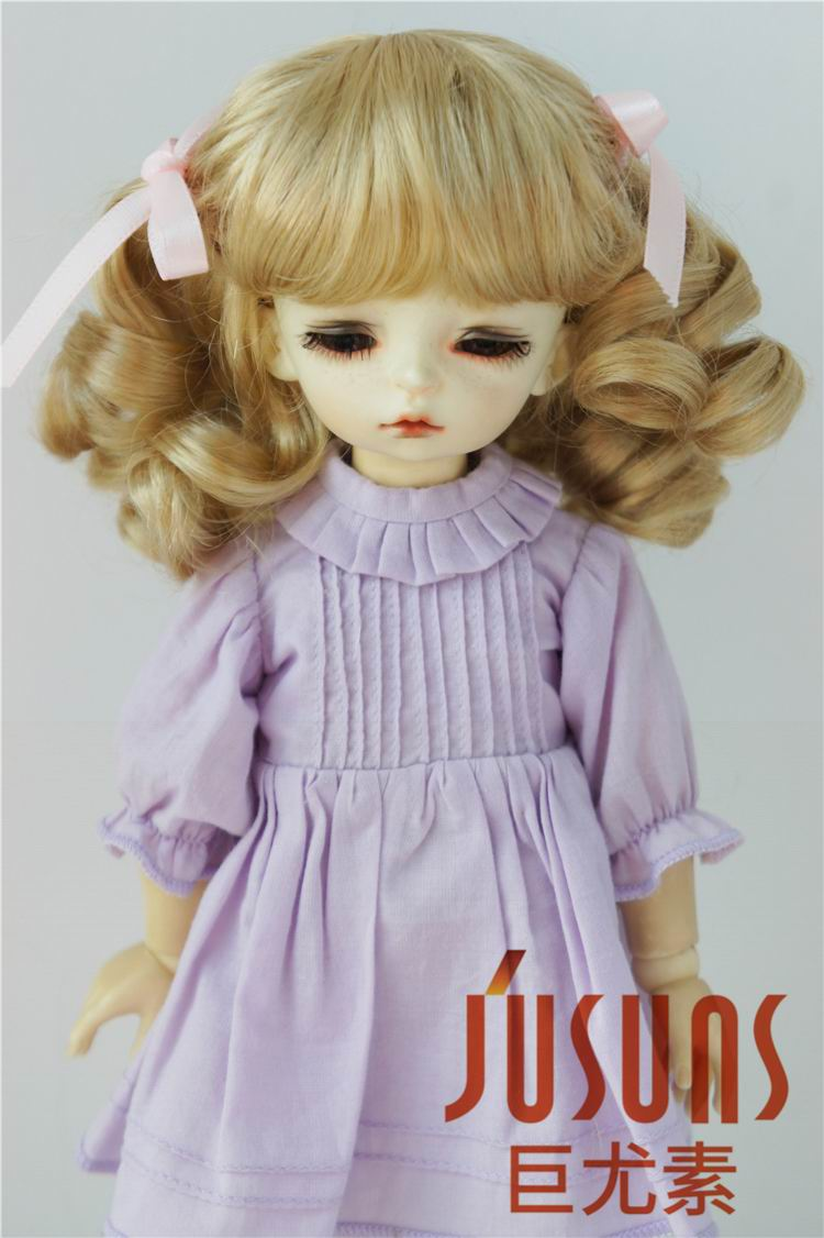 JD405 1/6 1/4 1/3 BJD doll wig YOSD MSD SD Pretty bjd syntheitc mohair wigs 6-7inch 7-8inch 8-9inchinch hair doll accessories synthetic bjd wig long wavy wig hair for 1 3 24 60cm bjd sd dd luts doll dollfie cut fringe