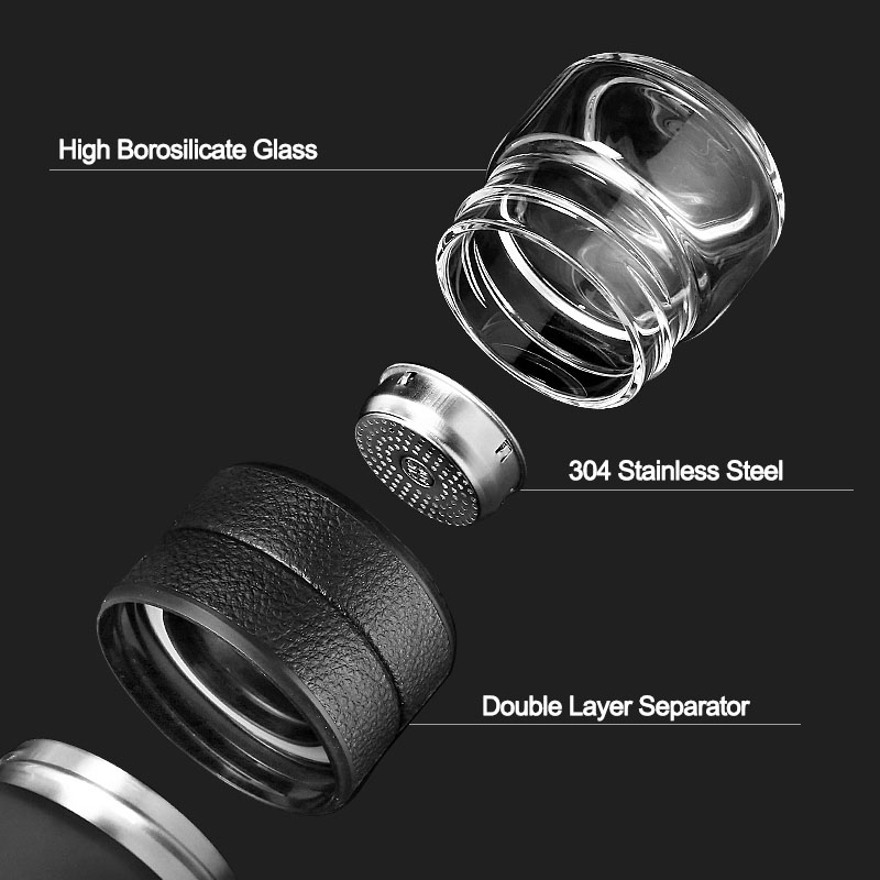Thermos Bottle Stainless Steel Tea Partition Thermo Cup Glass Tea Strainer Thermos Mug Bottle Vacuum flask Thermos Bottle Stainless Steel Tea Partition Thermo Cup Glass Tea Strainer Thermos Mug Bottle Vacuum flask Bottles 400ml + 200ml